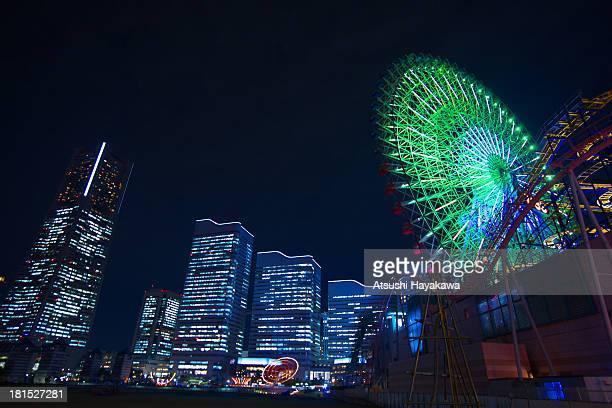 The night view of Yokohama