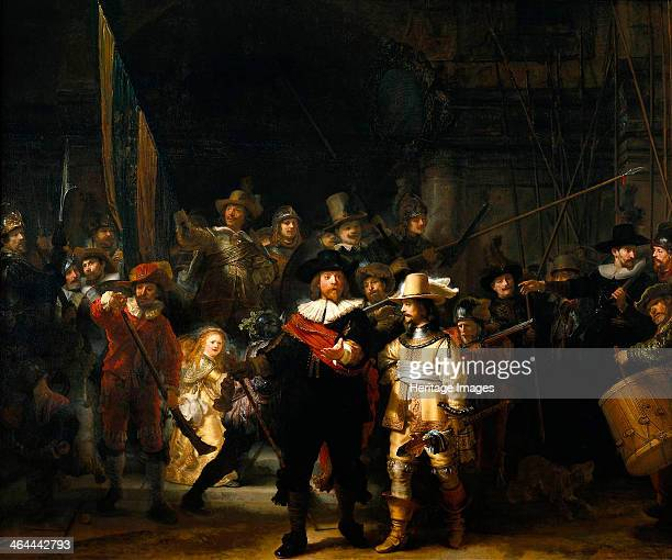 'The Night Watch' 1642 The Company of Frans Banning Cocq and Willem van Ruytenburch Rembrandt van Rhijn Found in the collection of the Rijksmuseum...