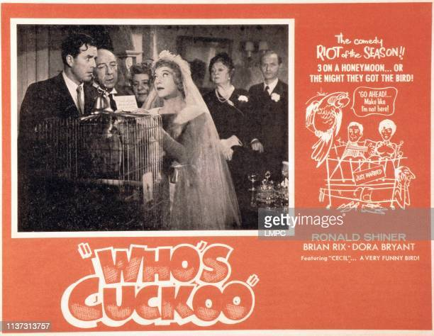 The Night We Got The Bird US lobbycard front from left Brian Rix Ronald Shiner Irene Handl Dora Bryan 1961