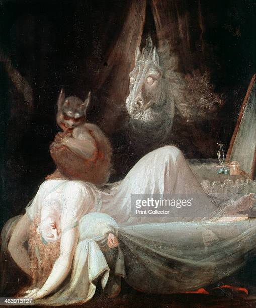 'The Nightmare' c1790 The feeling of suffocating anxiety experienced in a nightmare is represented by the demon sitting on the dreamer's chest with...