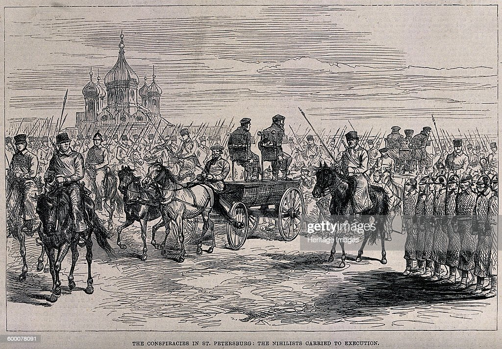 The Nihilists carried to Execution in St Petersburg, ca 1881 Artist: Anonymous : News Photo