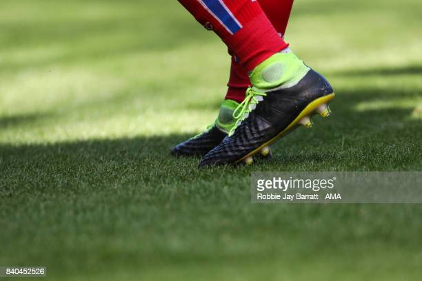 The Nike football boots of Jese of Stoke City during the Premier League match between West Bromwich Albion and Stoke City at The Hawthorns on August...
