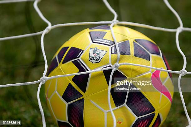 The Nike HiVis Ordem ball the official winter match ball of the Barclays Premier League 2014/15