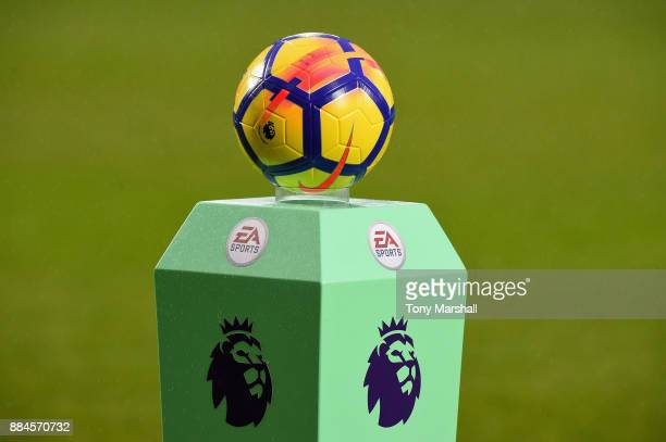 The Nike matchball on the Premier League pedestal during the Premier League match between West Bromwich Albion and Crystal Palace at The Hawthorns on...