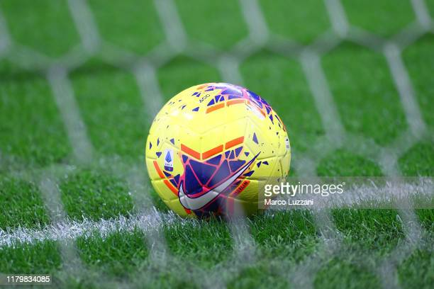 The Nike official match ball before the Serie A match between AC Milan and SS Lazio at Stadio Giuseppe Meazza on November 3 2019 in Milan Italy