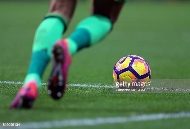The Nike Ordem 4 winter match ball during the Premier League match between West Bromwich Albion and Manchester City at The Hawthorns on October 29...