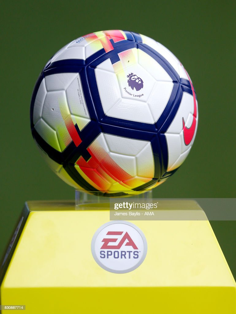 The Nike Ordem Premier League match ball before the Premier League match between Everton and Stoke City at Goodison Park on August 12, 2017 in Liverpool, England.
