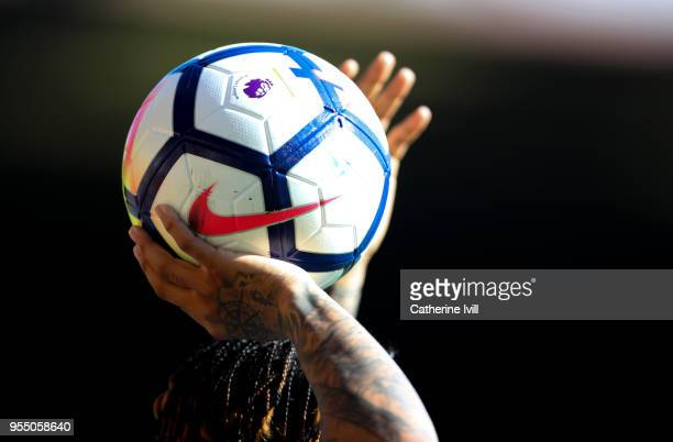The Nike Ordem V ball during the Premier League match between Watford and Newcastle United at Vicarage Road on May 5, 2018 in Watford, England.
