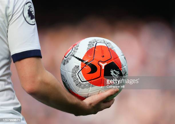 The Nike Premier League Tunnel Vision Merlin Ball during the Premier League match between Chelsea FC and Tottenham Hotspur at Stamford Bridge on...