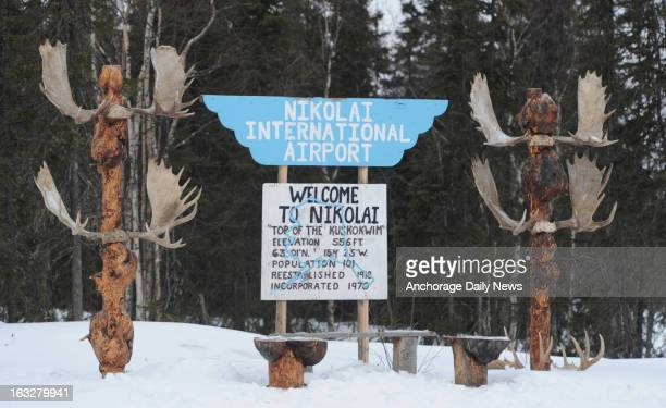 The Nikolai Alaska airport served as a lifeline for dropped dogs on Wednesday March 6 during the Iditarod Dog Sled Race