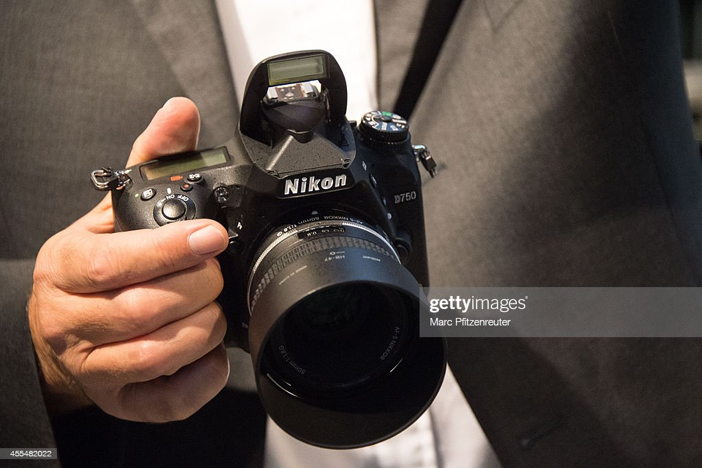 The Nikon D750 camera is presented at the Photokina 2014 trade fair on September 15, 2014 in Cologne, Germany. Photokina is the world's largest trade fair for cameras and photographic equipment.