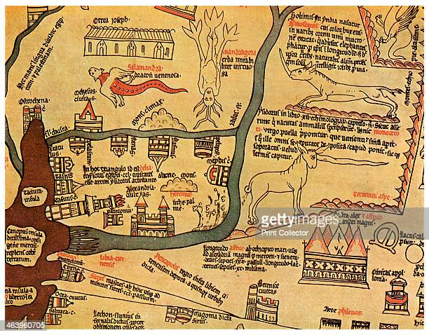 The Nile Delta Egypt c1280 Detail from the Hereford Mappa Mundi Hereford Cathedral Attributed to Richard de Bello the Hereford Mappa Mundi is the...