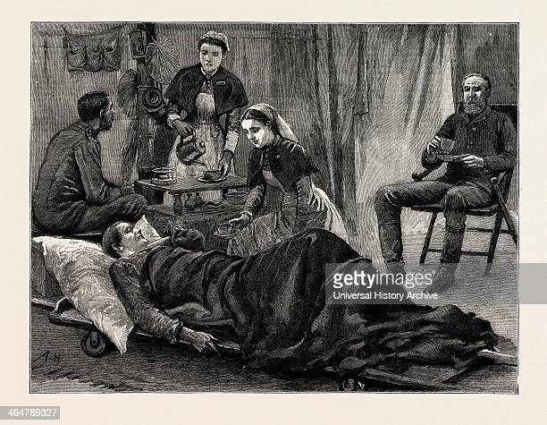 The Nile Expedition For The Relief Of General Gordon Five O'clock Tea With The Hospital Sisters Engraving 1884