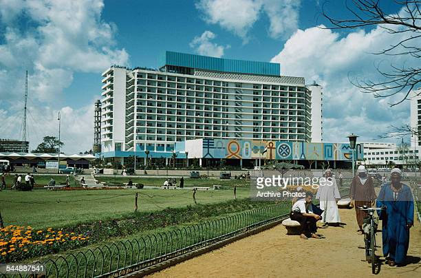 The Nile Hilton as seen from Tahrir Square in Cairo, Egypt, circa 1965.