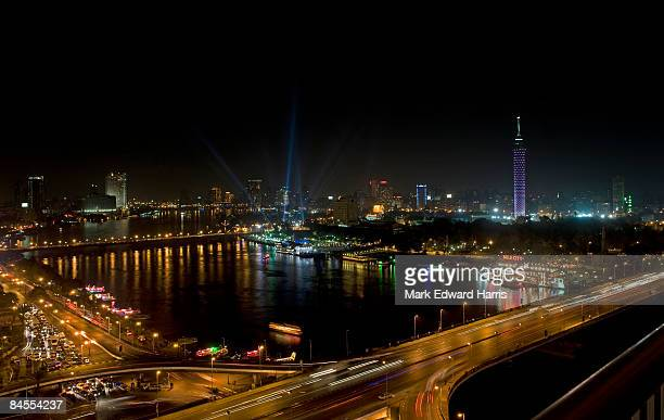 The Nile River at Night, Cairo, Egypt