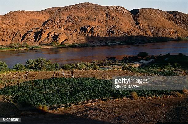 The Nile river near the Fourth Cataract Sudan