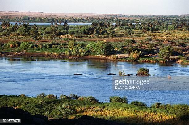 The Nile River near the Sixth Cataract Nubia Sudan