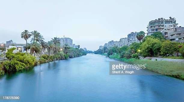 The Nile river passing around Manial island