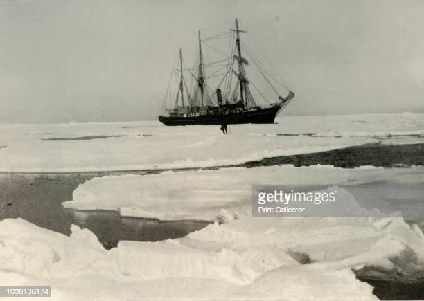 The Nimrod Pushing Her Way Through More Open Pack Towards King Edward VII Land' circa 1908 AngloIrish explorer Ernest Shackleton made three...