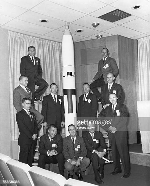 The nine new astronaut trainees and two of the original seven Eliot See Frank Borman John Young Edward White Neil Armstrong Charles Conrad Thomas...