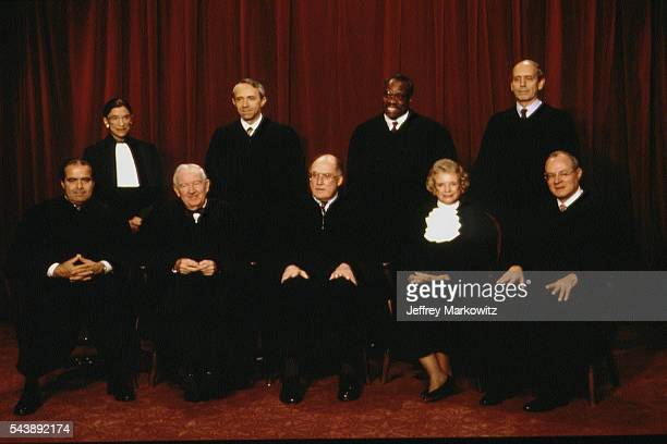 The nine Supreme Court judges Antonin Scalia Ruth Bader Ginsburg John Paul Stevens David Hackett Souter William HRehnquist Clarence Thomas Sandra Day...
