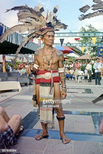 The nineties. Great Chief at the Gawai Dayak festival. Kuching, Sarawak Malaysia.