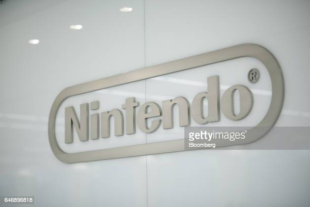 The Nintendo Co logo is displayed inside the company's development center in Kyoto Japan on Thursday Jan 19 2017 Nintendo is making its biggest bet...