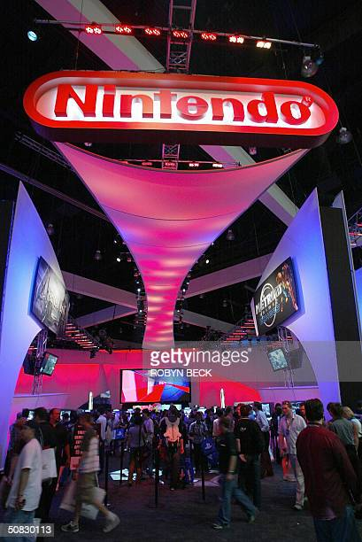 The Nintendo exhibit draws visitors at the Electronic Entertainment Expo or E3 at the Los Angeles Convention Center in Los Angeles 12 May 2004 E3 in...