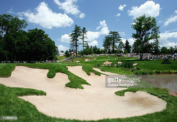 The ninth green is seen during the second round of the HSBC Women's World Match Play Championship at Hamilton Farm Golf Club on July 7 2006 in...