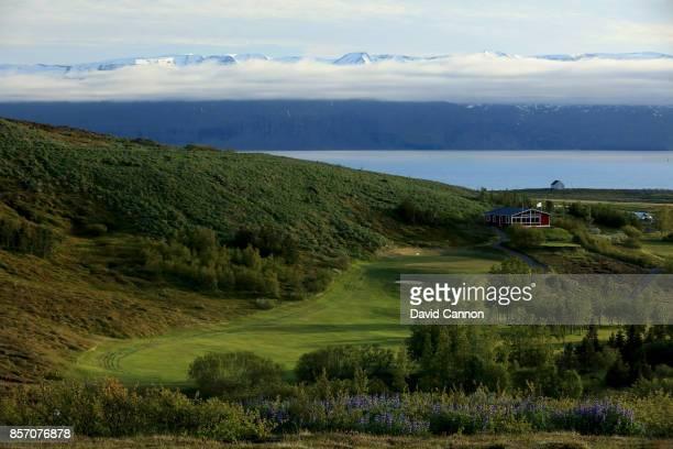 The ninth hole at Husavik Golf Club on June 12 2017 in Husavik hofn Iceland