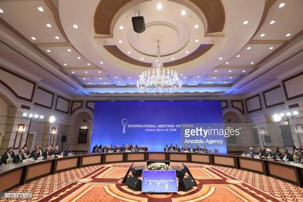 The ninth round of Syria peace talks is held in Astana Kazakhstan on March 16 2018