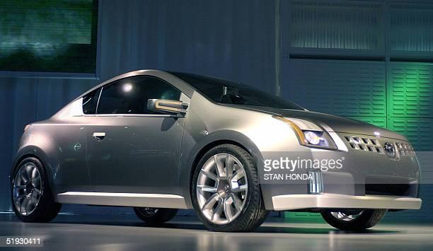 The Nissan Azeal concept car is unveiled 09 January 2005 during the North American International Auto Show at Cobo Hall in Detroit MI AFP PHOTO/Stan...