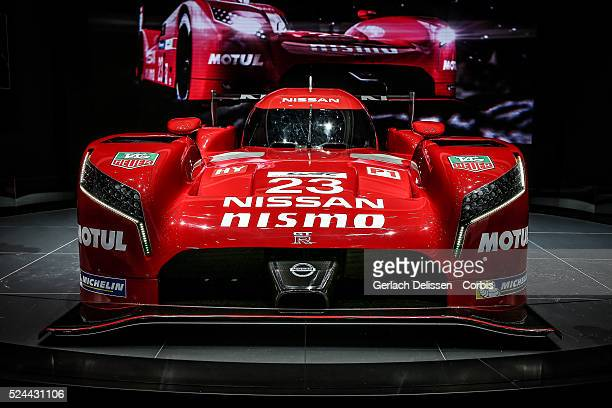 The Nissan GTR LM Nismo LMP1 on display at the 85th Geneva International Motor Show March 4th Switzerland
