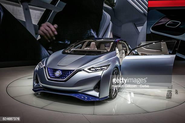 The Nissan IDE Concept on display at the 86th Geneva International Motorshow at Palexpo in Switzerland, March 2, 2016.