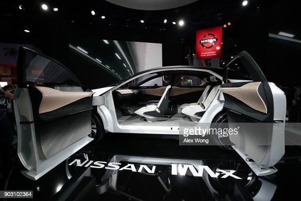 The Nissan IMx an allelectric crossover concept vehicle offering fully autonomous operation and a driving range of more than 600 kilometers is on...