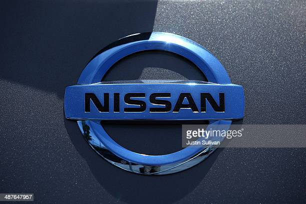 The Nissan logo is displayed on a brand new Nissan car at Nissan Marin on May 1 2014 in San Rafael California Nissan reported a record sales month in...