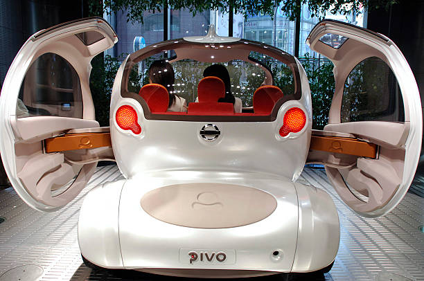 The Nissan Motor Co Pivo Concept Car Is Pictured From The