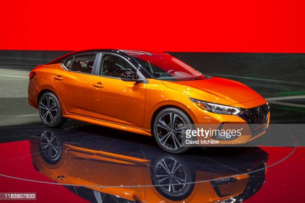The Nissan Sentra SR is shown at AutoMobility LA on November 21, 2019 in Los Angeles, California. The four-day press and trade event precedes the Los...
