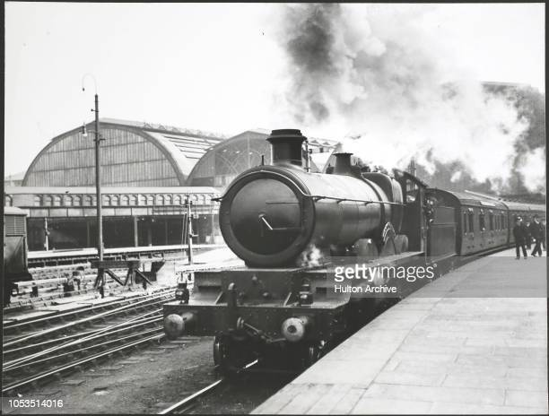 The No 4004 'Morning Star' train to Plymouth during the 1919 Railway Strike, England.