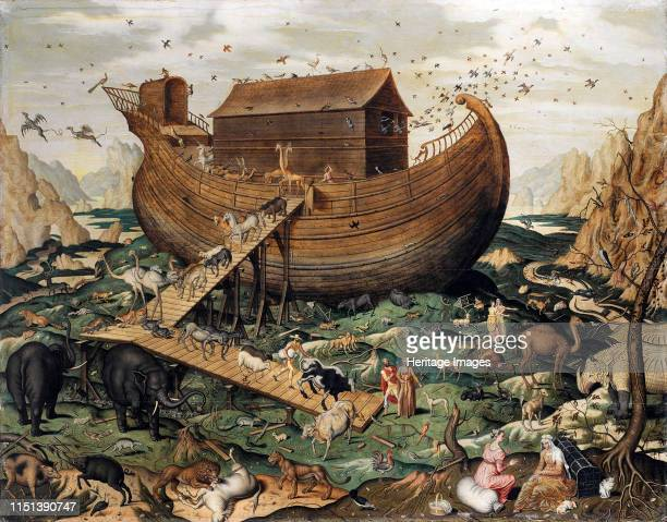 The Noah's Ark on Mount Ararat 1570 From a private collection Artist De Myle Simon