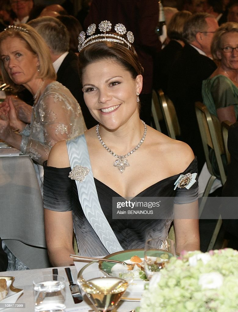 Nobel Prize Awards Ceremony 2007. The Banquet at the City Hall in Stockholm, Sweden on December 10th, 2007. : News Photo