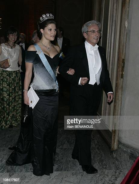The Nobel prize winners and the Royal Family Queen Silvia Princess Madeleine King Carl XVI Gustaf Prince Carl Philip and Crown Princess Victori...