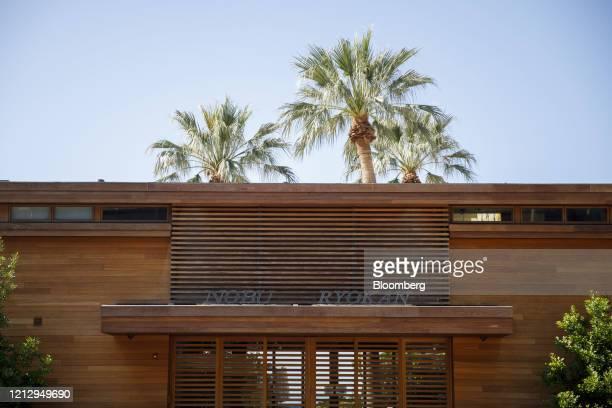 The Nobu Ryokan Malibu luxury hotel stands closed in Malibu, California, U.S., on Wednesday, May 13, 2020. Los Angeles County beaches reopened...