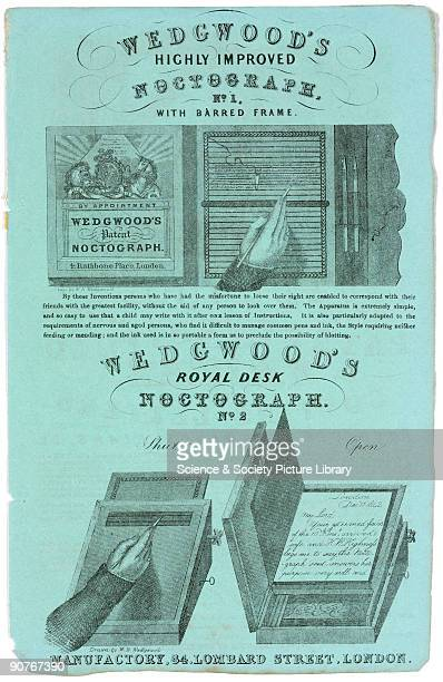 The �noctograph� orginally patented in 1806 as a �Stylographic Writer� was designed to help blind people write The device used �carbonated paper�...