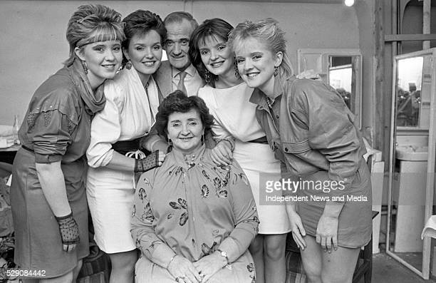 The Nolan sisters- Coleen, Maureen and Bernadette with their mother Maureen and father Tommy. Circa 1984. .