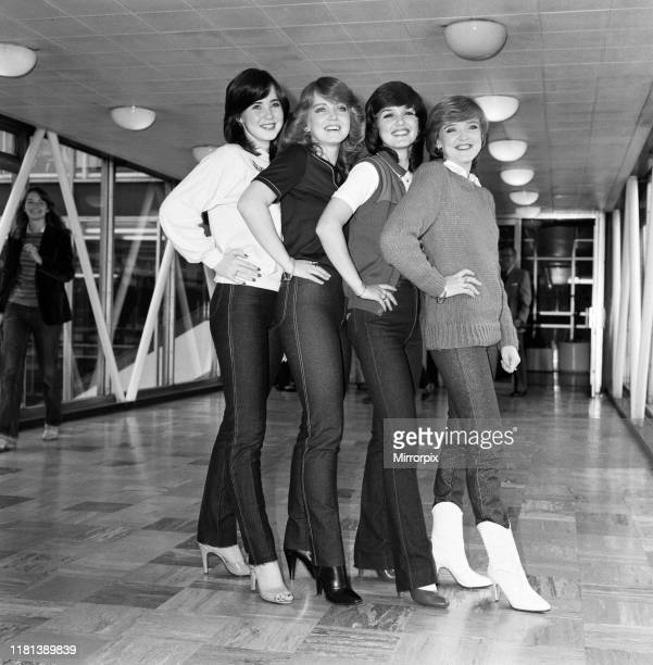 The Nolan sisters, L-R Coleen , Linda , Maureen and Bernadette , leaving Heathrow Airport for Japan to promote their latest record 'I'm In The Mood...
