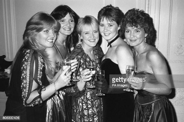 The Nolans who had their record 'Dressed to Kill' thrown out of the top 100 pop chart Left to right Linda Nolan Anne Nolan Bernie Nolan Coleen Nolan...