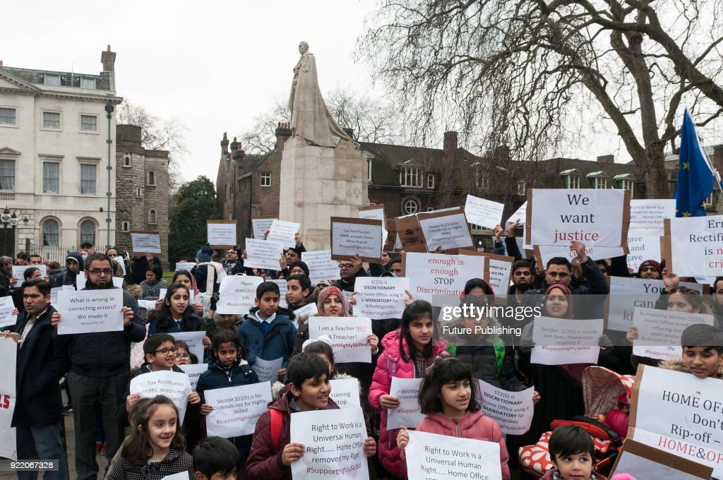 Skilled Migrants Protest Against Home Office Visa Policies In London