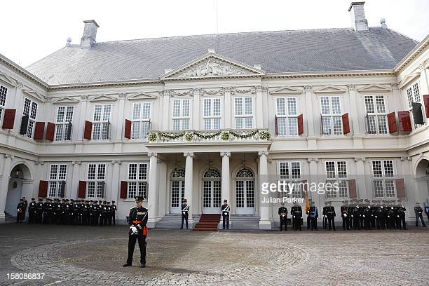 The Noordeinde Palace During Princes Day Celebrations In Den Haag, Holland.