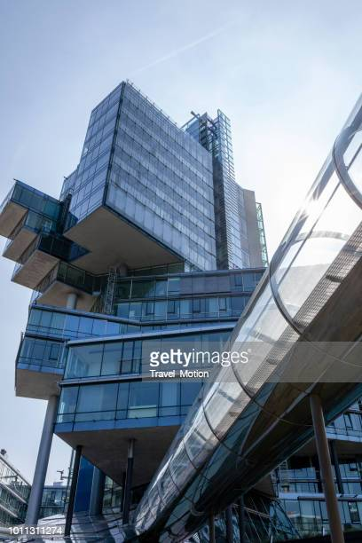 the nord-lb office building in hannover, germany - hanover germany stock pictures, royalty-free photos & images